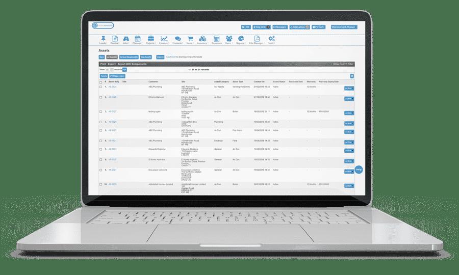 Asset Management Software - Job Card Management System