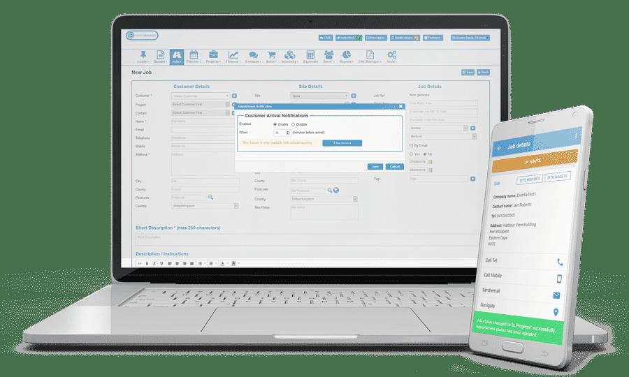 Job Sheet System and Job Card App - Eworks Manager
