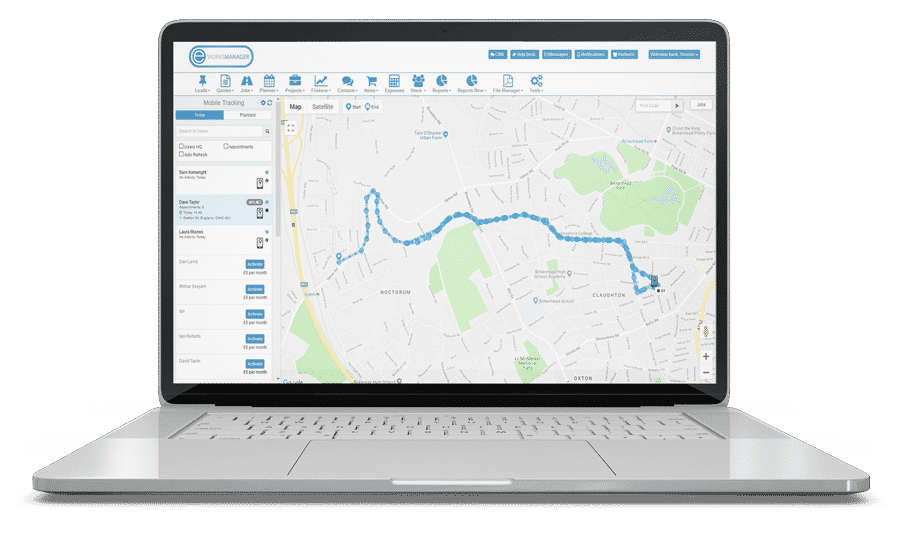 GPS Tracking Software for your field technicians