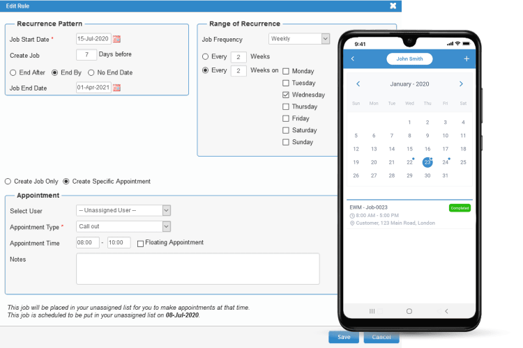 Task Management Software - Monitor Tasks within Jobs