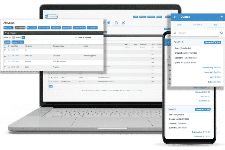 Task Management Software - Track Leads and Quote On-site