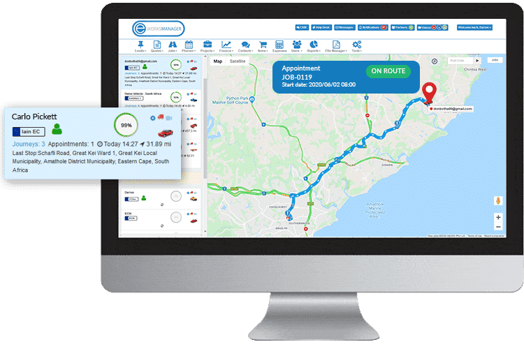 Fleet Management Software - Track your technicians in the field