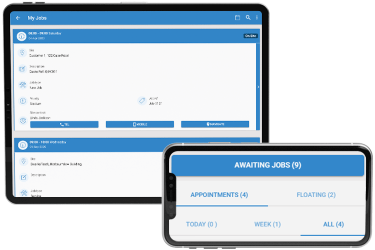 Field Service Management Software - Main Dashboard