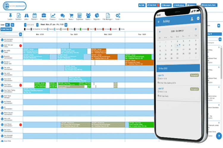 Job Scheduling Software - Mobile App