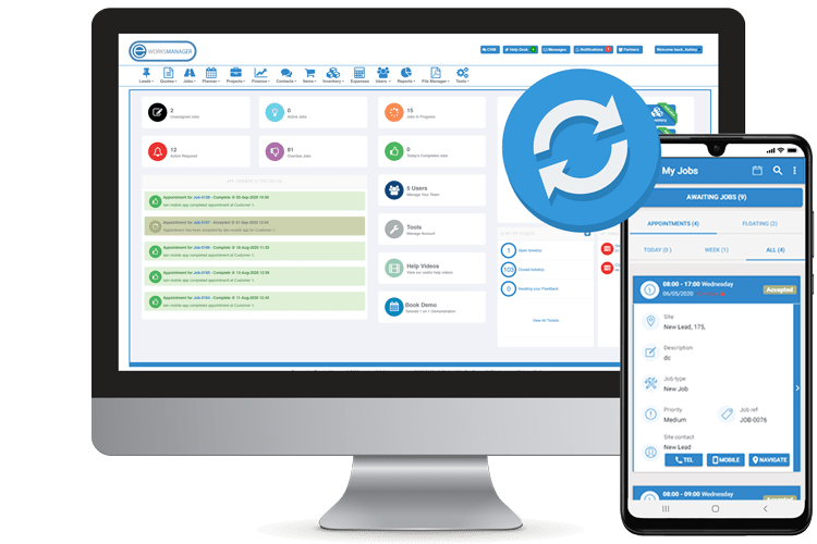 Offline Task Management Software - Sync with the system on reconnection of the network